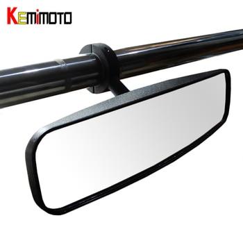 "KEMiMOTO 1,75 ""Abrazadera UTV espejo retrovisor centro espejo para Polaris RZR 800 900 1000 XP 900 1000 para Yamaha Rhino Pioneer 1000"