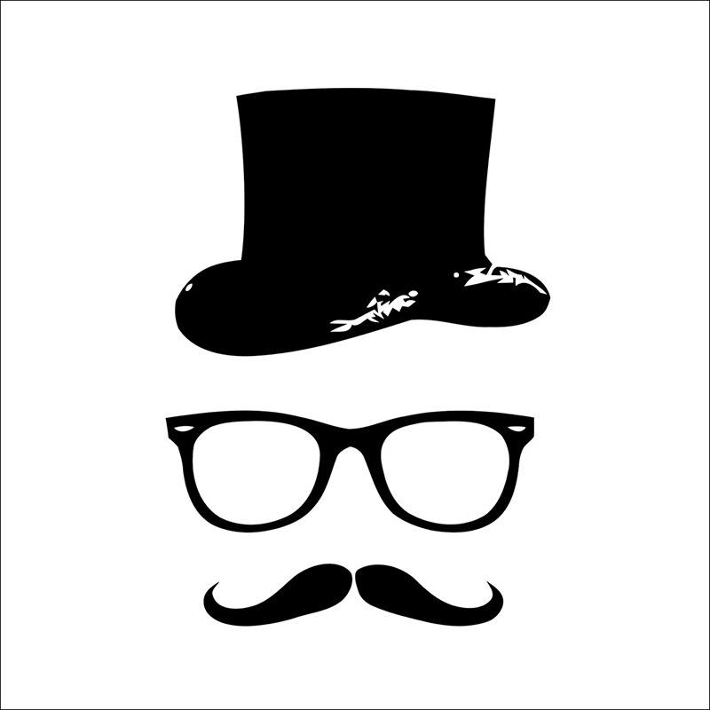 Открытка с очками и усами