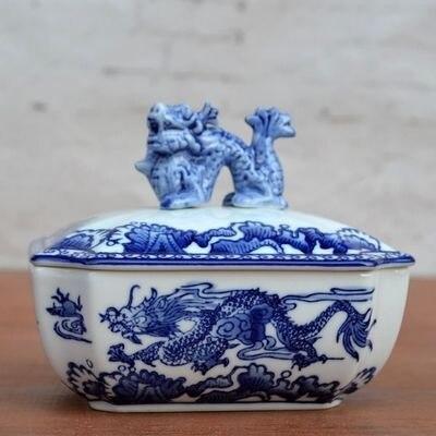Guci петух Керамическая Ваза фарфоровая новая классическая синяя белая фарфоровая декоративная коробка маленькая фарфоровая шкатулка покры