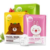 BIOAQUA 1PC 漫画動物保湿顔フェイシャルマスク新鮮な抗にきび植物エキスオイルコントロールシート顔マスク