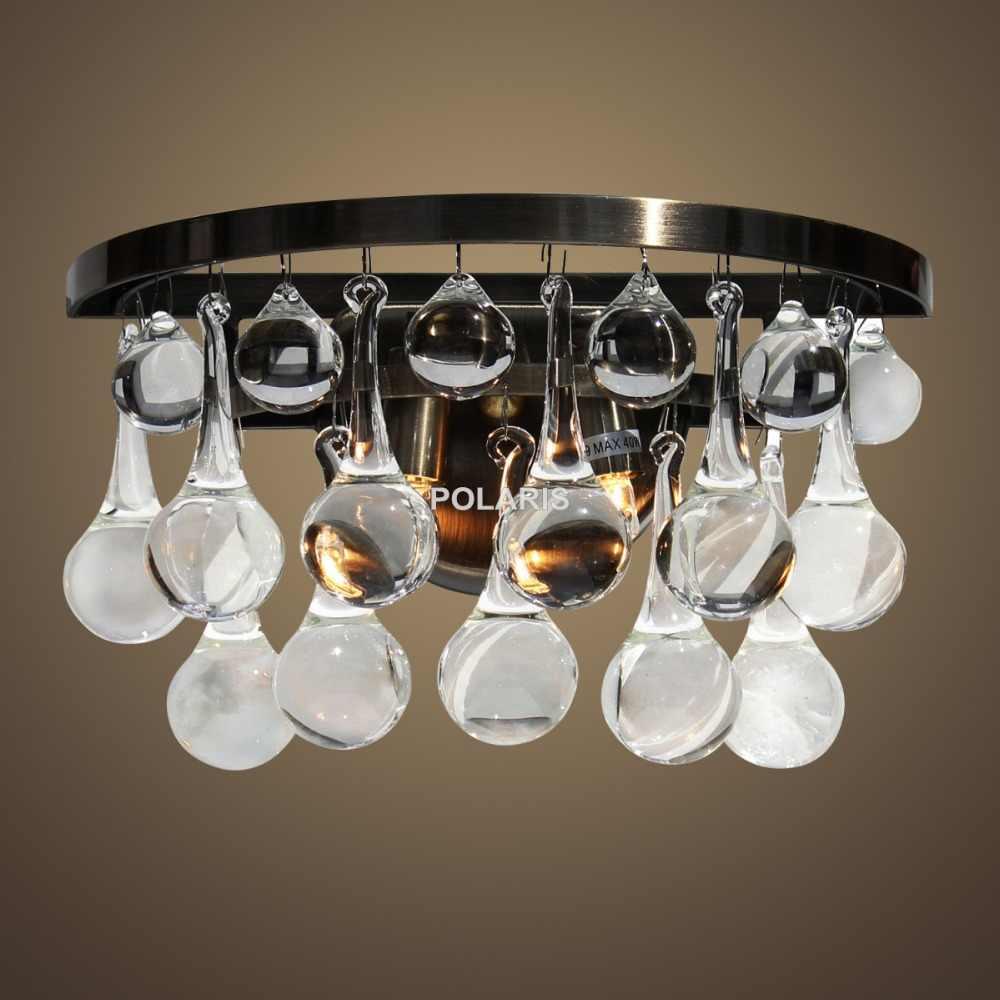 Бесплатная доставка художественный Декор роскошная винтажная подвеска слеза люстра старинный настенный светильник лампа для дома для гостиничного номера Декор