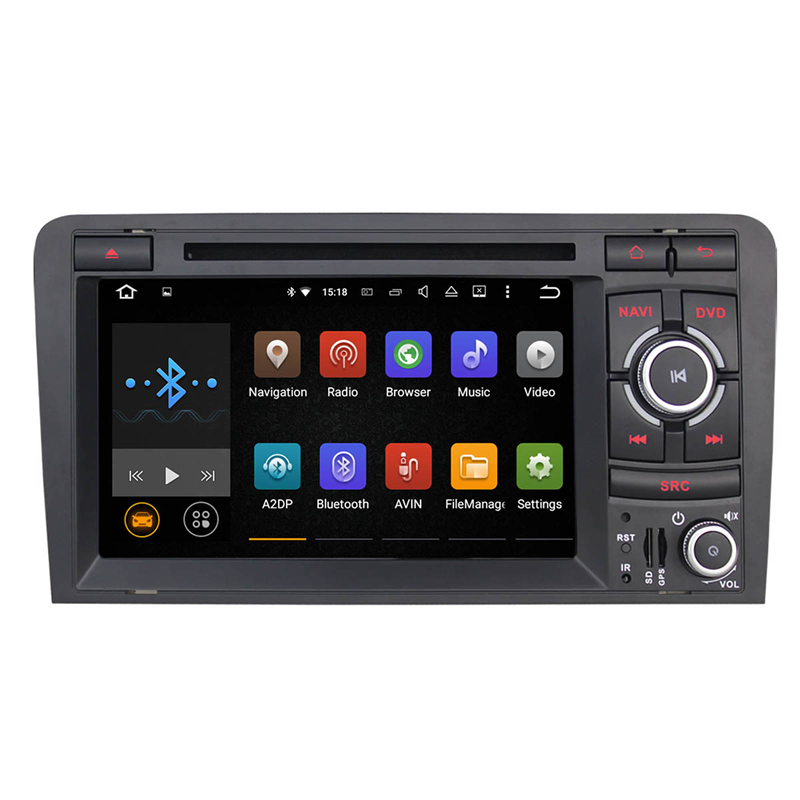 US 7 Android Car Stereo DVD GPS Navigation For Audi A3 Dash Radio Headunit a+DVR