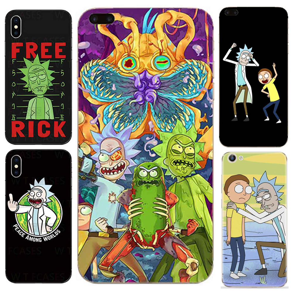 Hot TV Rick and Mortimer Soft Clear TPU Phone Cases For SamSung Galaxy S6 S7 Edge S8 PLUS Silicone Phone Back Cover Case Coque