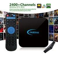 H IP ТВ 1 г + 8 г ТВ коробка интеллектуальное кодирование 2400 + Live Каналы сети ТВ Box Set приставки для ОС Android 6.0 ЕС США Plug профессиональный