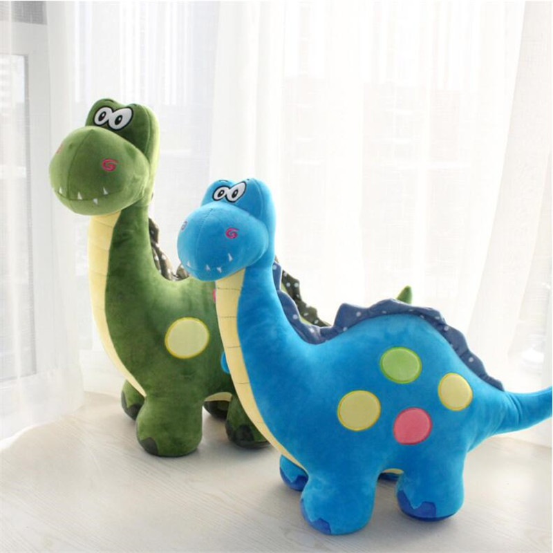 35 CM Colorful Plush Dinosaur Pillow Cushion Stuffed Plush Dinosaur Dolls Toys for Children Gifts Birthday Gifts