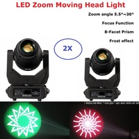 Lyre LED 250W Moving Head Light Beam Spot Wash Zoom 4IN1 Light DMX Controller DJ Stage Lighting Effect Professional Disco Light