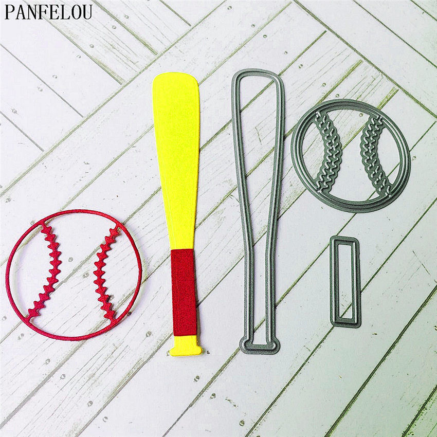 PANFELOU Metal craft baseball The bat paper die cutting dies for Scrapbooking/DIY Christmas wedding Easter cards