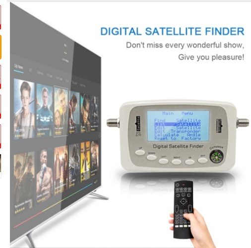 Digital Finder SF-500 Digital Satellite Finder Signal Meter Sat Dish Finder with DVB-S DVB-S2 SF560