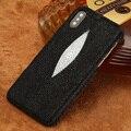 Роскошный Натуральная кожа ската чехол для телефона Apple IPhone X XS 11 11Pro 11 Pro Max XR XS MAX 7 8 Plus 6 6S 5s se черный чехол