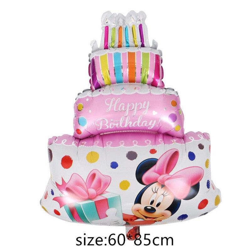 Гигантский мультяшный милый мышонок мультяшный воздушный шар из фольги воздушный шар детский день рождения украшения Классические игрушки подарок мультяшная шляпа - Цвет: 4