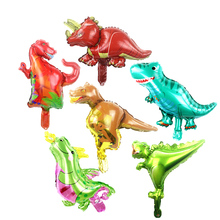 100pcs Dinosaur foil balloon boys animal balloons childrens dinosaur birthday party jurassic world decorations dino