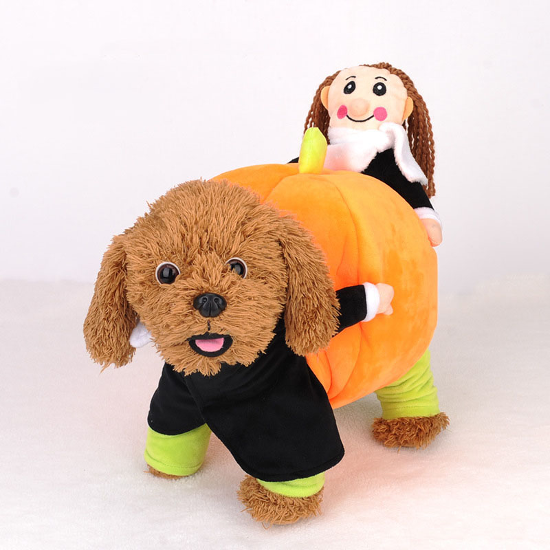 kimhome pet dog halloween costume carry pumpkin dog clothes for small dogs winter coat for medium dogs cosplay pet clothes - Small Halloween Costumes