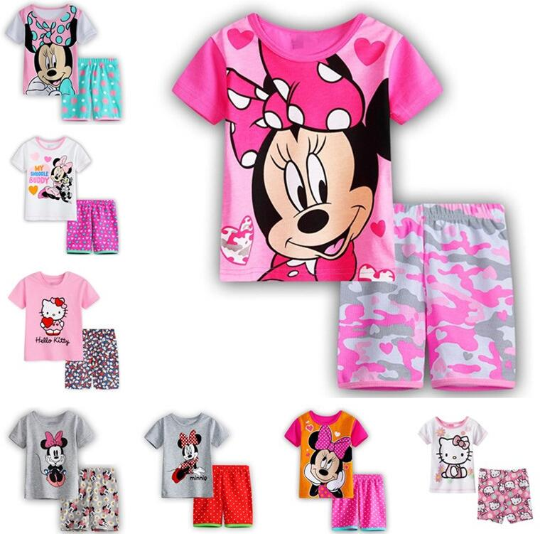 454c11598292 Summer Boys Pajamas Sets Short Sleeve Cartoon Children Sleepwear ...