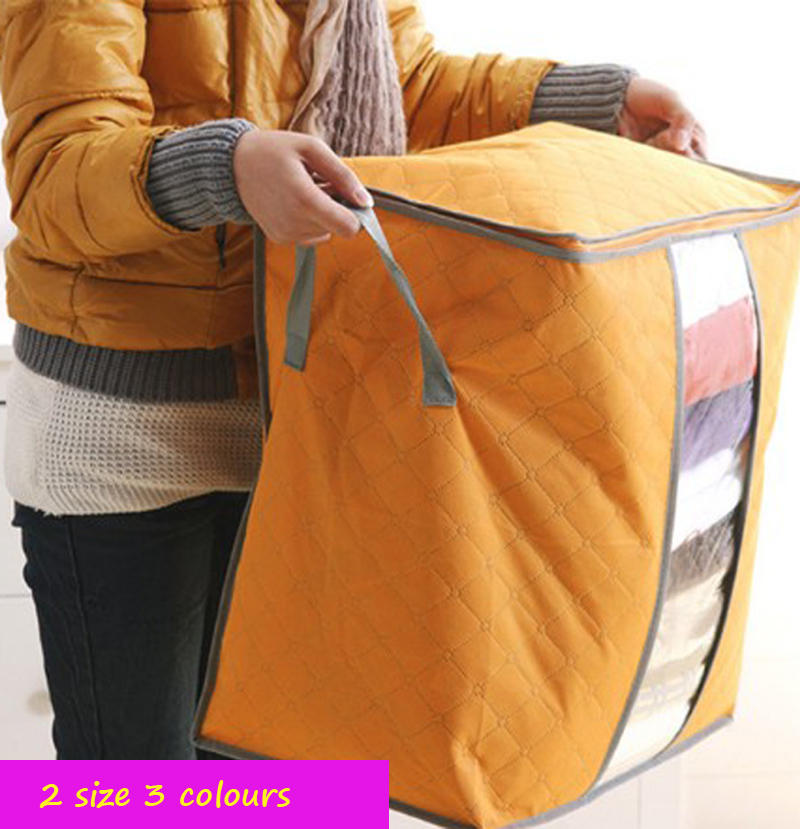 Hot Sale Foldable Wardrobe Storage Bag Clothes Blanket Pillow Quilt Closet  Sweater Box Pouch Organize(