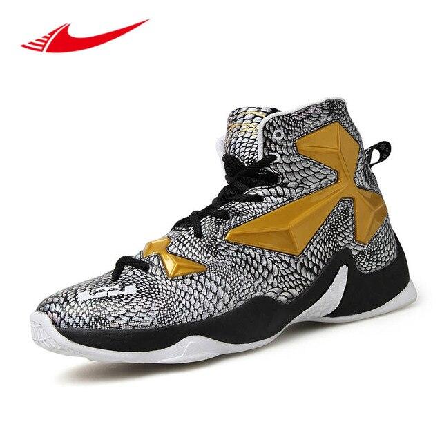 ac761aa651f7de Pop Breathable Men Basketball Shoes High Ankle Sport Sneakers Men Training Boots  Basket Homme 2017 Zapatillas De Baloncesto