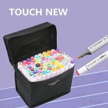 Touchnew 30/40/80 цвета художник dual head copic маркеры набор для манга эскиз маркер школа рисования маркером ручка конструкция обеспечивает