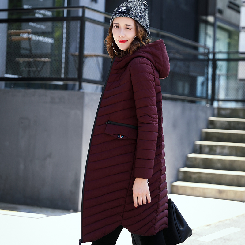 Hodisytian New Fashion Women Parkas Casual Winter Thicken Cotton Coat Cashmere Wadded Hooded X-long Padded Overcoat Plus Size