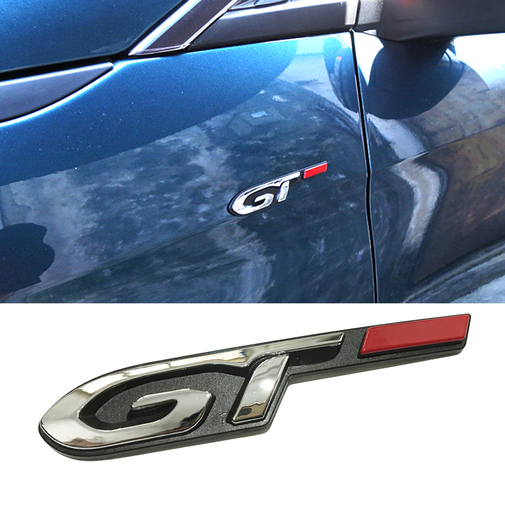 1-10 Pcs Auto Tuning Accessoires Gt Line Logo Insignia Sticker Chrome Voor Peugeot 208 607 5008 307 308 407 207 206 4008 Spatbord Speciale Kopen