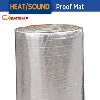 Cawanerl 600CM X 100CM Aluminum Foil Car Heat Sound Insulation Mat Protector Deadener Deadening Self Adhesive Waterproof