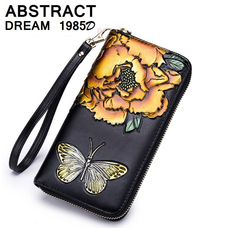 2019 New 100% real Leather women wallet classic bags women's designer Exquisite purse women's exquisite Butterfly luxury wallet