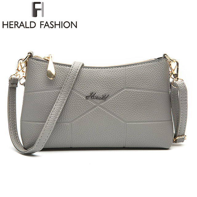 Herald Fashion Brand New Women Shoulder Bag Casual PU Leather Messenger Bag  Famous Designer Crossbody Bag For Ladies Fashion Bag e0a9be9cd2908