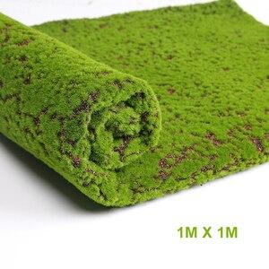 Image 5 - Искусственный мох, искусственная декоративная трава, зеленые растения для рождества, искусственное растение «сделай сам», украшение для стен, сада, 1 м