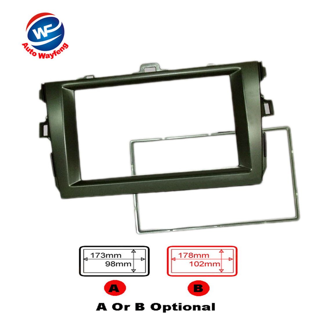 ᐂ2DIN Car dash Radio Fascia for Toyota Corolla 2008-2010 ...
