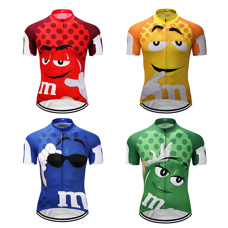 цена на Summer 2018 Cycling Jersey Funny Cycling Clothing Mtb Bicycle Shirt Bike Wear Clothes Short Maillot Ropa Ciclismo Sportwear
