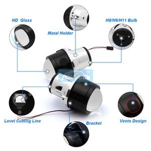 Image 5 - Ronan 2pcs H11 Metal holder use H8 H9 HID Bulbs 2.5Bi Xenon Fog Light Projector Lens Car Styling for CX5 CX7 MX5 DIY retrofit