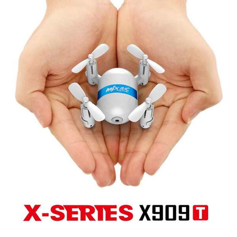 MJX X909T Mini RC Drone Quadcopter 5.8G FPV with 2.0MP Camera One Key Return Headless Mode RTF-white jxd 510g 2 4g 4ch 6 axis gyro 5 8g fpv rc quadcopter rtf rc drone with 2mp camera with one key return cf mode 3d flip f18540