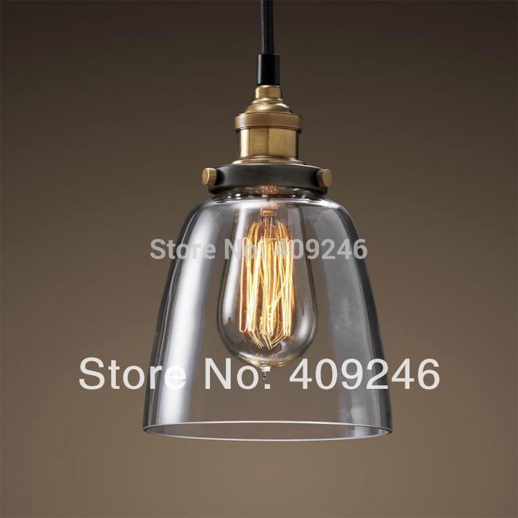 Industrial Edison Light Mini Clear Glass  Pendant Hanging Lamp Fixture Antique Lighting Cafe Bar loft industrial rust ceramics hanging lamp vintage pendant lamp cafe bar edison retro iron lighting