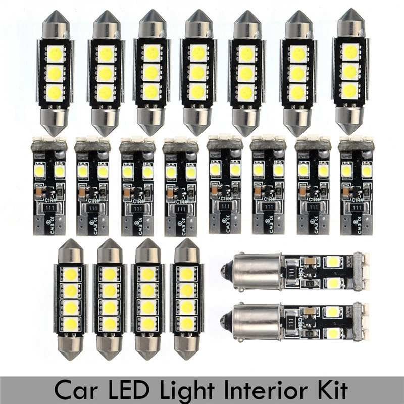 1Set LED Dome map Reading Light Lamp Kit License Plate Light Bulbs For BMW E46 Sedan M3 1999-2005 Car led Interior Light bulbs 8pcs car led light bulbs interior package kit for 2003 2008 subaru forester map dome trunk license plate lamp white ice blue