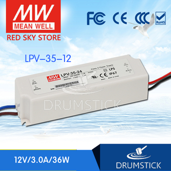 (Only 11.11)MEAN WELL LPV-35-12 (5Pcs) 12V 3A meanwell LPV-35 36W Single Output LED Switching Power Supply