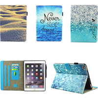 Fashion High Quality Luxury Print Painted Flip PU Leather SFor IPad Air 1 Case for Apple IPad Air1 ipad5 Case Tablet Funda Cover