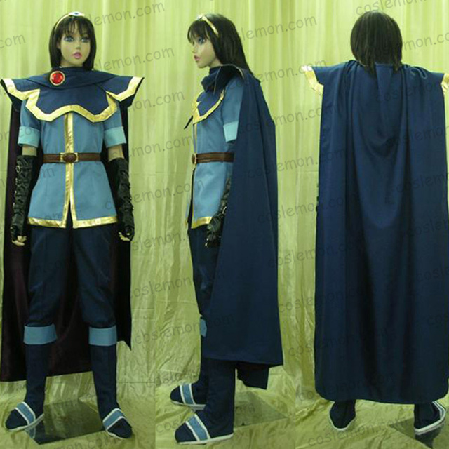 US $165 0 |Fire Emblem Marth Cosplay Costume Halloween Uniform Outfit  Shirt+Pants+Cape+Belt+Shoes Covers+Wristband Custom made-in Anime Costumes  from