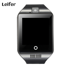 Smart Watch Q18 Sveglia di Sostegno SIM carta di Tf di Bluetooth NFC Collegamento con 0.3MP Macchina Fotografica Per Apple IOS Android Phone Smartwatch(China)