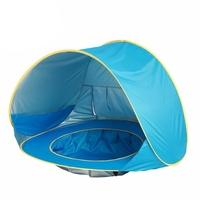 Blue Baby Beach Tent Waterproof Up Portable Shade Pool Uv Protection Sun Shelter For Infant Kids Outdoor Camping Sunshade Beac