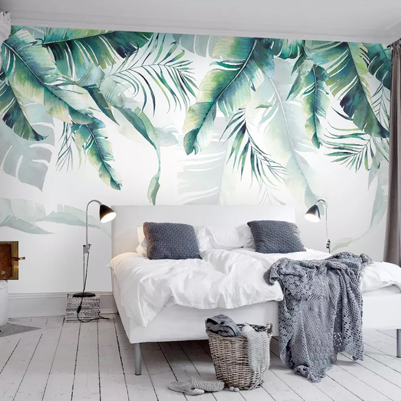 Custom Photo Mural Wallpaper Retro Tropical Rain Forest Palm Banana Leaves Wall Painting Bedroom Living Room Sofa 3D Wall paperCustom Photo Mural Wallpaper Retro Tropical Rain Forest Palm Banana Leaves Wall Painting Bedroom Living Room Sofa 3D Wall paper