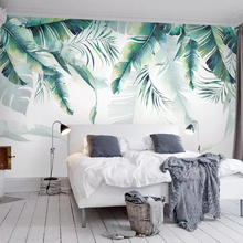 Custom Photo Mural Wallpaper Retro Tropical Rain Forest Palm Banana Leaves Wall Painting Bedroom Living Room Sofa 3D Wall paper custom 3d murals landscape painting poplar forest sunset wall paper mural 3d living room tv wall children bedroom wallpaper