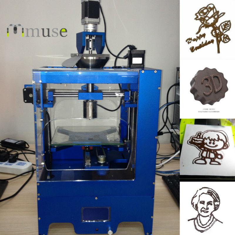 Machine d'impression 3D de nourriture d'imprimante du chocolat 3D de bureau