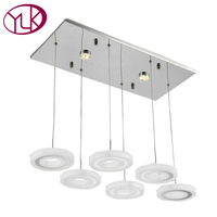 Free Shipping Luxuryl Modern First Class Acrylic Material 8 Lights White Chandelier Lustre Led Light Fixture