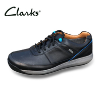 Clarks 2019 Men Business Casual Shoes Men's Outdoor Sports Non Slip Comfortable Shoes Male Breathable First Layer Leather Shoes