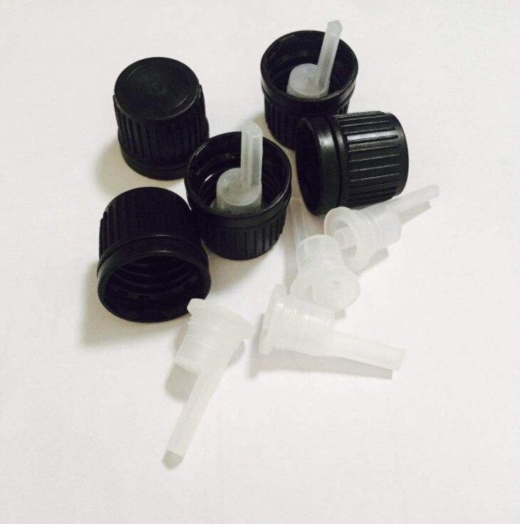 Home Generous 1000pcs 18mm Bottle Cap,18mm Tamper Evident Cap Plastic Cap For 5ml\10ml\15ml\20ml\30ml\50ml\100ml Essential Oil Bottle