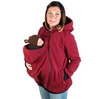 Multi 3 IN 1 Women Hoodies Sweatshirts Mother Kangaroo Sweatshirts Autumn Winter Baby Carry Coats Mom