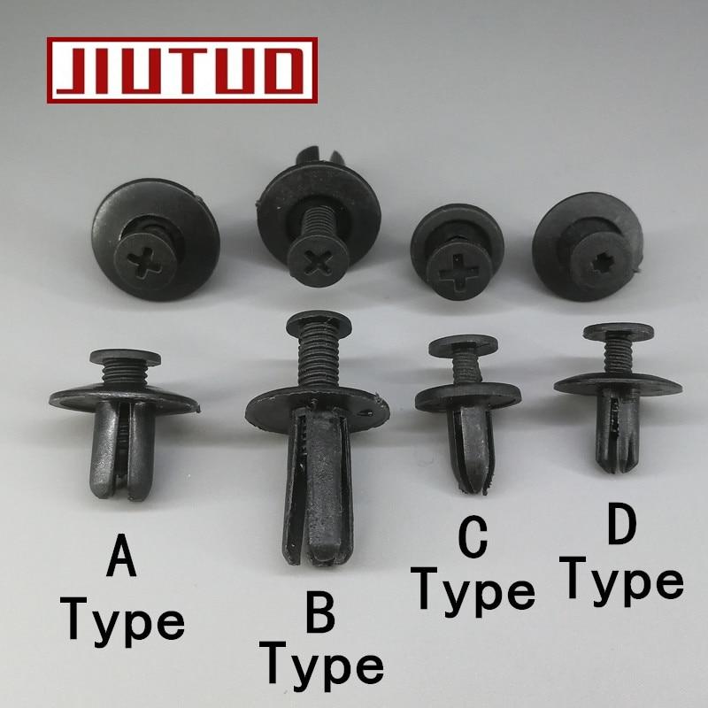 100 pcs Auto Nylon Rivet Fastener Expansion Push in Fender Clips 8mm for Honda