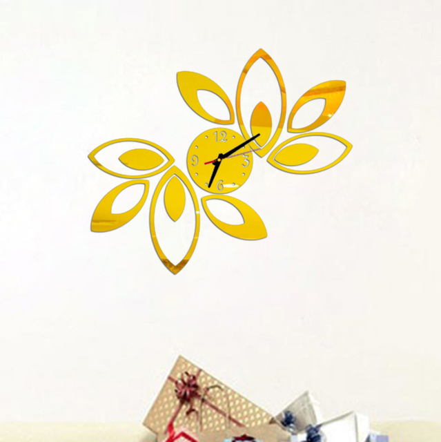New clock on wall home decor multicolor leaveAcrylic hot sale s ...