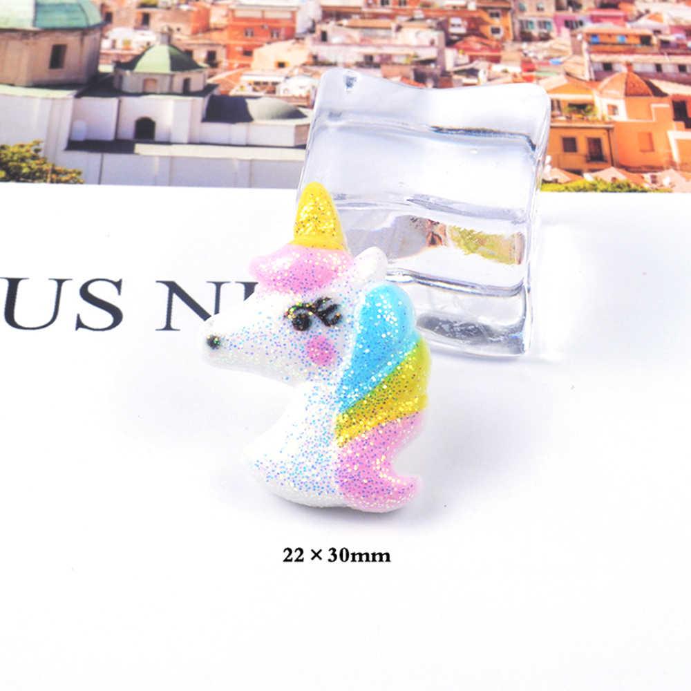1/3/5/10 piezas de encantos de unicornio para suministros de limo DIY relleno decoración de arcilla de polímero Lizun para los lodos Anti-estrés Juguetes