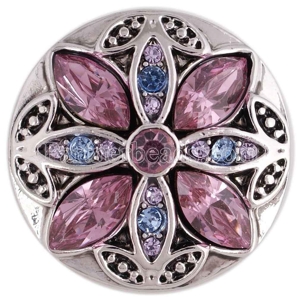 Alta qualidade colorido strass snaps botão snap jóias caber 18mm feminino diy botão snap pulseira colar jóias kc5370