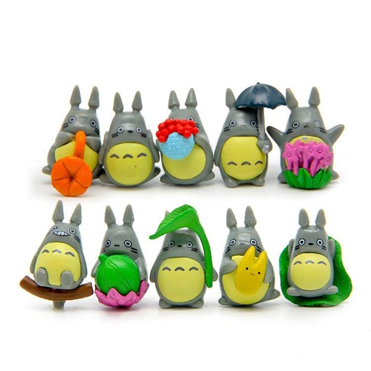 10pcs/set My Neighbor Totoro Toy Hayao Miyazaki Mini Garden PVC Action Figures Kids Toys For Boys Girls