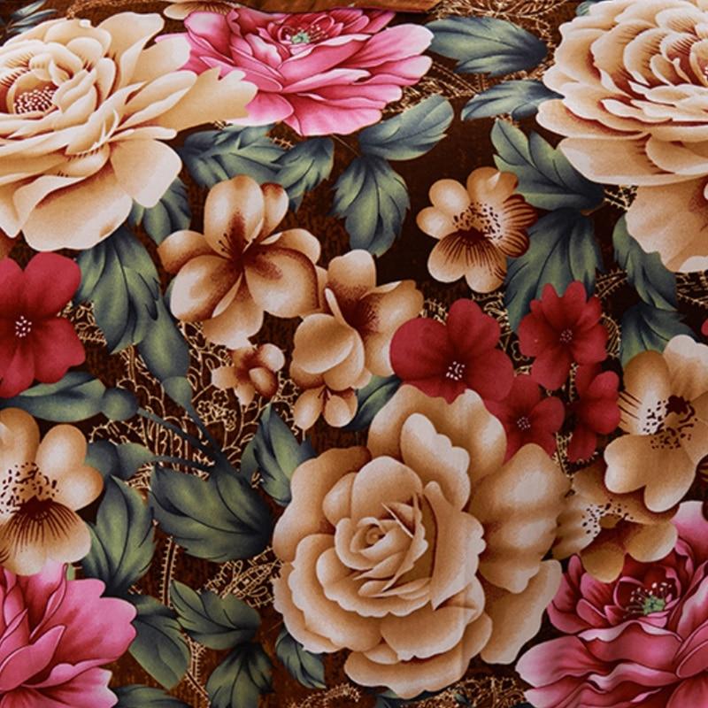 Image 5 - Brown Purple 100%Cotton kids adults Bedding Set twin full queen  king size Floral print Duvet cover soft Bed sheet set Pillowcasesheet  setking sizebedding set